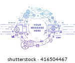 circle frame with place for... | Shutterstock .eps vector #416504467