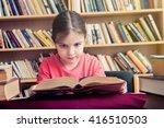 early love of reading   girl... | Shutterstock . vector #416510503