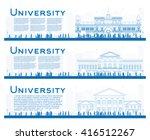 outline set of university study ... | Shutterstock .eps vector #416512267