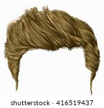 trendy stylish man hairs fringe.... | Shutterstock .eps vector #416519437