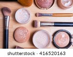 face makeup cosmetics on a... | Shutterstock . vector #416520163