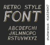 vector vintage label font. ... | Shutterstock .eps vector #416534047