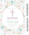 baptism  christening  first... | Shutterstock .eps vector #416536693