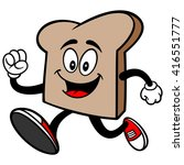 bread slice running | Shutterstock .eps vector #416551777