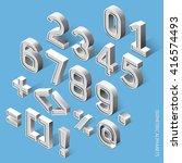 isometric alphabets. vector... | Shutterstock .eps vector #416574493