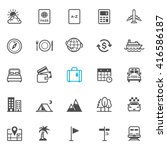 travel and vacation icons with... | Shutterstock .eps vector #416586187