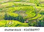 hillside terraces with fields... | Shutterstock . vector #416586997