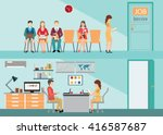 recruitment flat banner set... | Shutterstock .eps vector #416587687