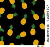 pineapple pattern vector... | Shutterstock .eps vector #416595907