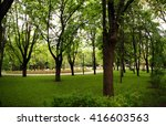 park in the early morning in... | Shutterstock . vector #416603563