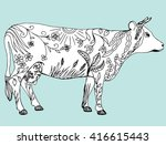 Stylized Cow. Cattle. Animal....