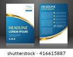 abstract vector modern flyers... | Shutterstock .eps vector #416615887