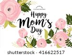 mother's day greeting template... | Shutterstock .eps vector #416622517
