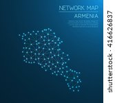 armenia network map. abstract... | Shutterstock .eps vector #416626837