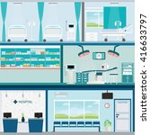 info graphic of medical... | Shutterstock .eps vector #416633797