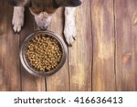 Bowl Of Dry Kibble Dog Food An...