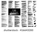 vector set of grunge artistic... | Shutterstock .eps vector #416643283