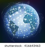 abstract global digital... | Shutterstock .eps vector #416643463
