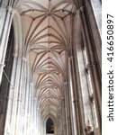 Stock photo the vaulted ceiling of canterbury cathedral in canterbury kent england uk which was founded by 416650897