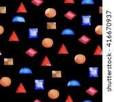seamless monochromatic pattern... | Shutterstock . vector #416670937