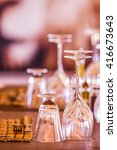 glasses and cutlery in a... | Shutterstock . vector #416673643