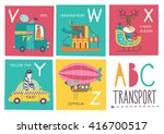 cute vector alphabet with... | Shutterstock .eps vector #416700517