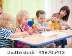 kids learning arts and crafts... | Shutterstock . vector #416705413