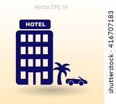 hotel vector illustration | Shutterstock .eps vector #416707183
