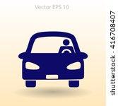 driver vector icon | Shutterstock .eps vector #416708407