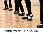close up of feet in children's... | Shutterstock . vector #416722483
