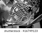 close up of french horn musical ... | Shutterstock . vector #416749123