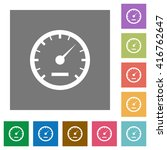 speedometer flat icon set on...