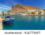 marina of puerto de mogan  a... | Shutterstock . vector #416775697