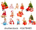 set of christmas kids   from... | Shutterstock . vector #41678485