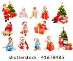 set of christmas kids   from... | Shutterstock . vector #41678485