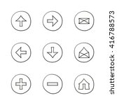 web icons set. hand drawn round ...