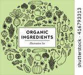 organic ingredients | Shutterstock .eps vector #416793313