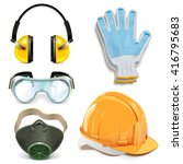 vector protective equipment | Shutterstock .eps vector #416795683
