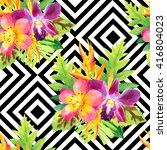 seamless pattern with...   Shutterstock . vector #416804023