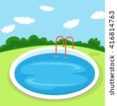 Illustration Of A Pool.vector...