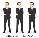 set of emotions thoughtful... | Shutterstock .eps vector #416822647