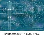 mechanical engineering drawings.... | Shutterstock .eps vector #416837767
