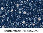 seamless cute flower vector... | Shutterstock .eps vector #416857897