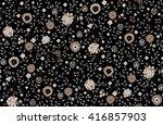 seamless cute flower vector... | Shutterstock .eps vector #416857903