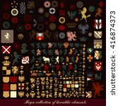 collection or mega set of... | Shutterstock .eps vector #416874373