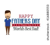 isolated dad icon with a beard... | Shutterstock .eps vector #416880553