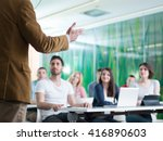close up of teacher hand with... | Shutterstock . vector #416890603