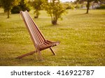 texture of wooden chaise lounge | Shutterstock . vector #416922787