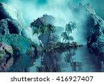 3d illustration of tropical... | Shutterstock . vector #416927407