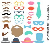 props set. party birthday photo ... | Shutterstock .eps vector #416928073